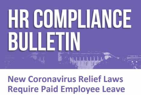 New Coronavirus Relief Law Requires Paid Employee Leave